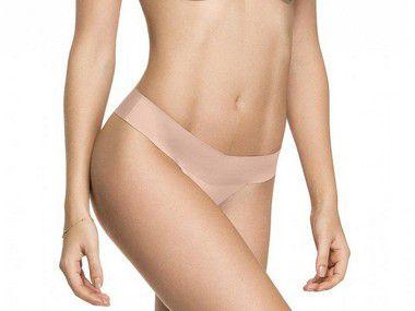 Calcinha Tanga Laser Termofusionada Nude