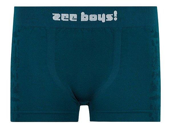 Cueca Boxer infantil Seabed Azul