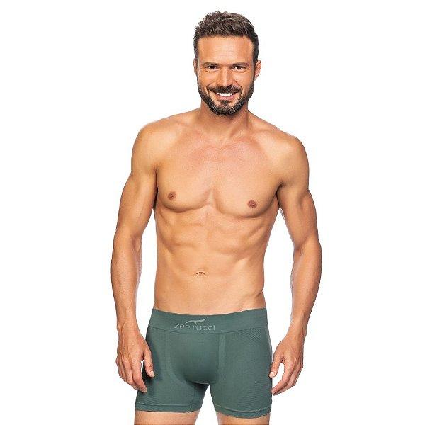 Cueca Boxer Jacquard Sem Costura Verde