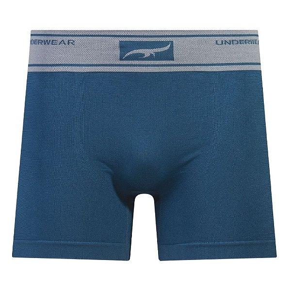 Cueca Boxer Sem Costura Azul