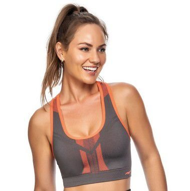 Top Fitness Discovery Dupla Face Laranja