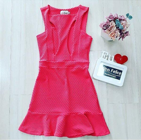 Vestido Pink Jacquard