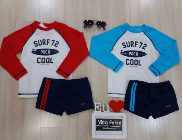 Kit Blusa ML Beach Surf 72/Sungão