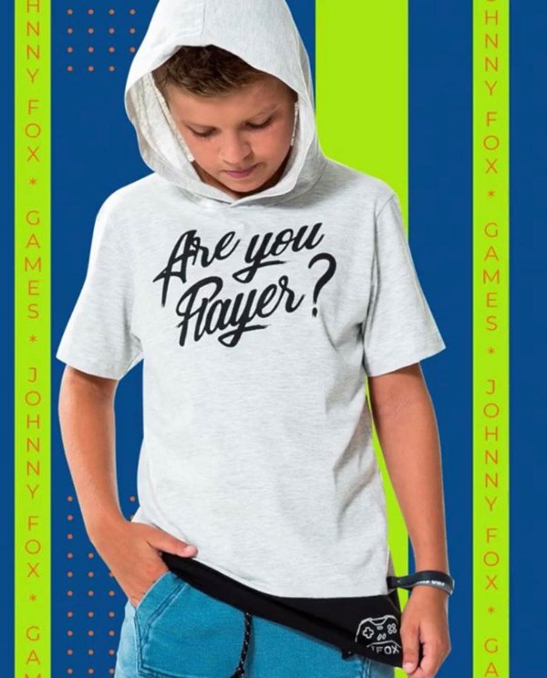 Camiseta MC com Capuz Are You Player?