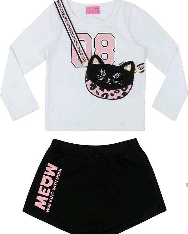 Conjunto ML 08 com Shorts Saia Meow