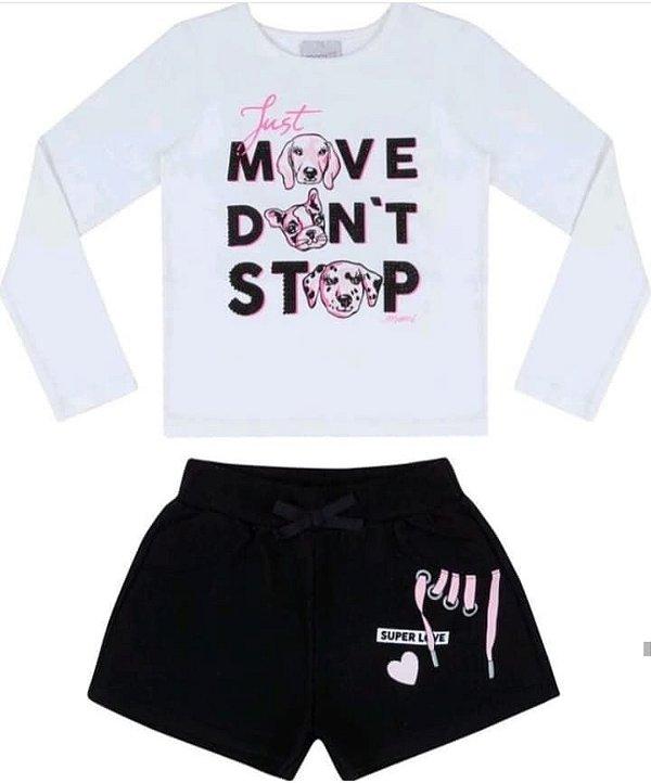 Conjunto Blusa ML Move / Shorts