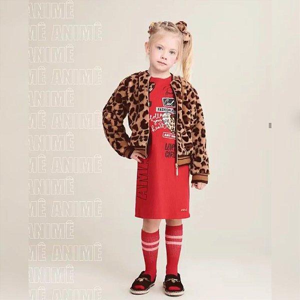 Vestido Canelado ML Vermelho