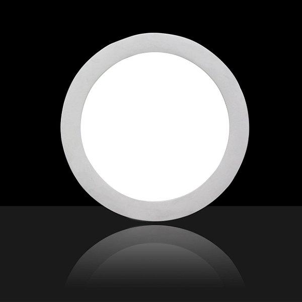 Painel Plafon Downlight Led Slim Redondo 15W Branco Frio Bivolt