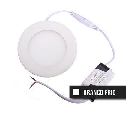 Painel Downlight Led Slim 15W Branco Frio (Redondo)