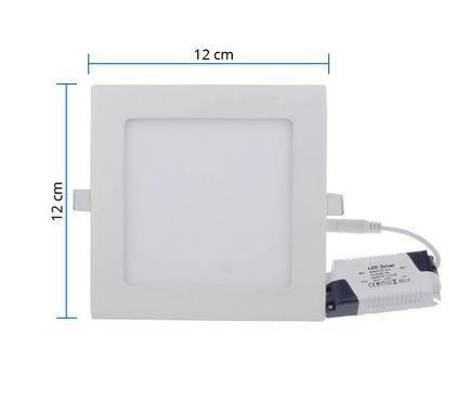 Painel Led Plafon de Embutir Slim 6W  (Quadrado)