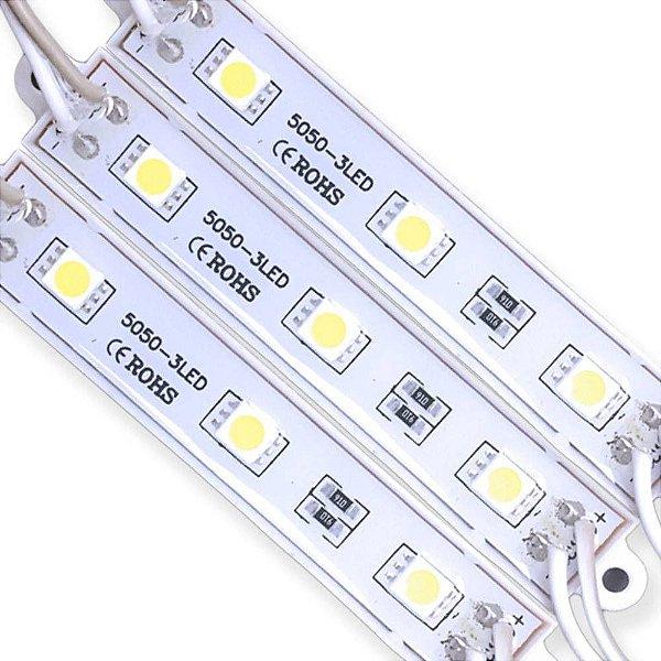 Módulo LED 5050 SMD C/ 3 LEDs Para Outdoor