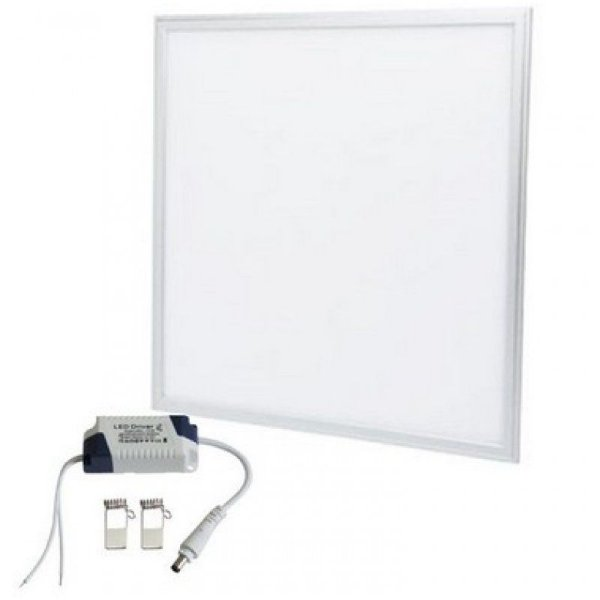 Painel Dowlight de Embutir Led- 60W - 62X62- Com Moldura Branca