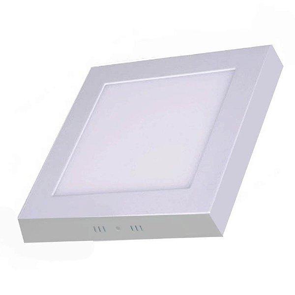 Painel Plafon Downlight Sobrepor Quadrado de Led 12W