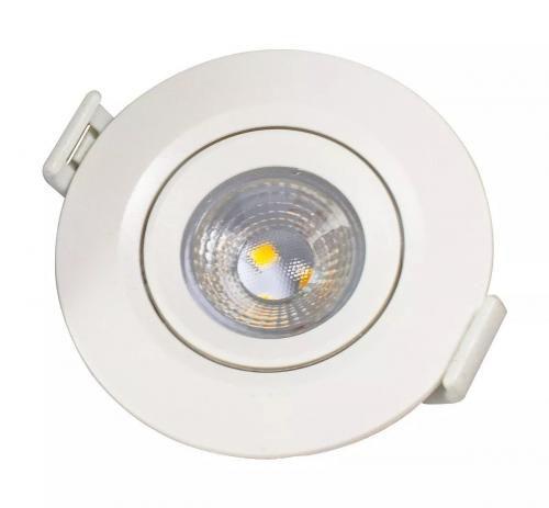 Spot de LED SMD - 7W - Direcionavel de Embutir - Redondo
