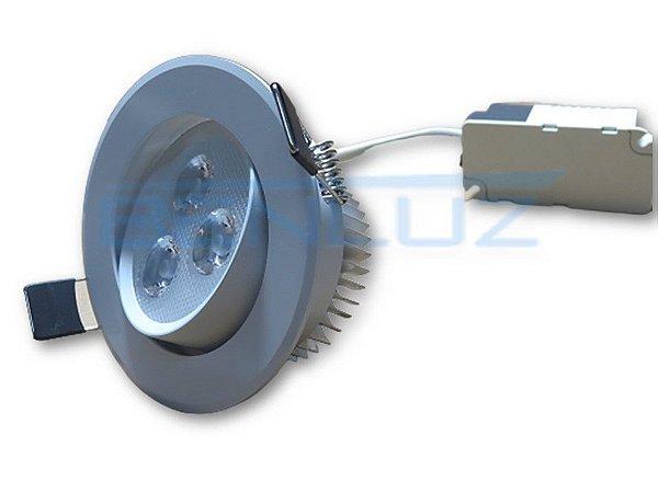 Spot Super LED 3W Redondo de Embutir - Direcionável