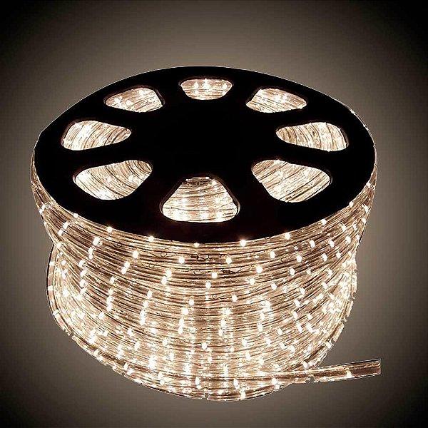 Mangueira de LED 12MM - Rolo com 100 Metros - Branco Quente