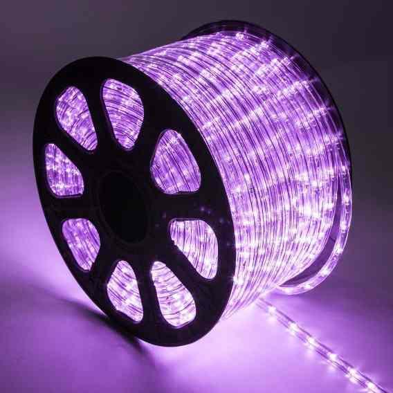 Mangueira de LED 12MM - Rolo com 100 Metros - Roxo