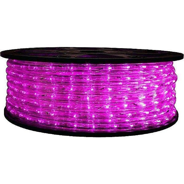Mangueira de LED Rosa 12MM Rolo com 100 Metros 110V