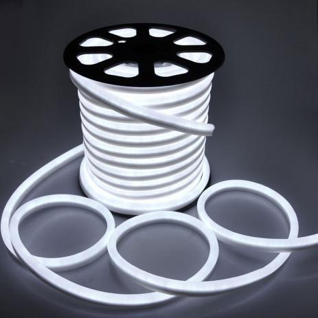 Mangueira Neon De LED Flexível - Rolo com 100 Metros - Branco Frio