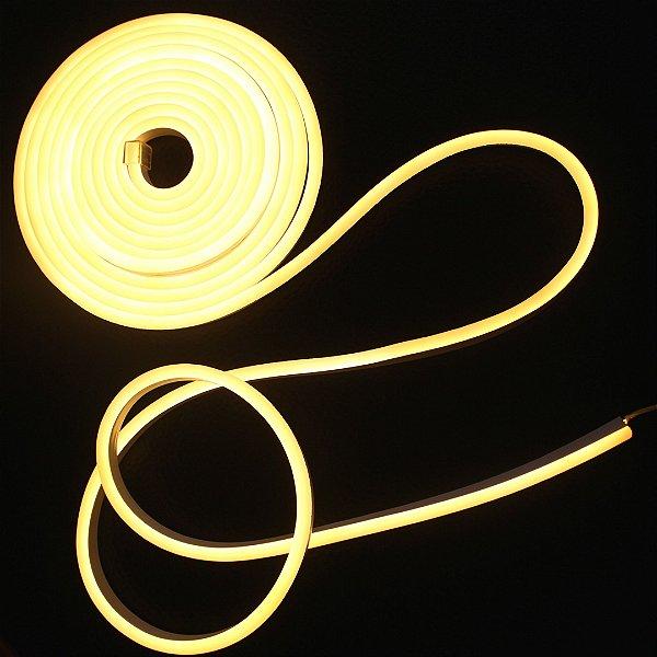 Mangueira Neon de LED  Branco Quente Rolo C/ 10 metros  110v ou 220v