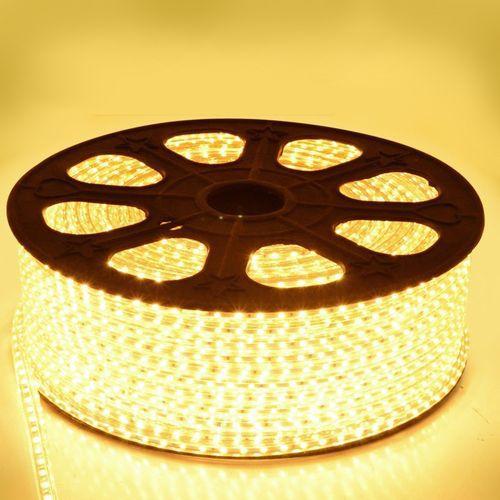 Mangueira Chata de LED - 100 Metros Rolo- 5730- Branco Quente