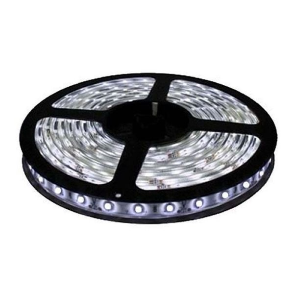 Fita LED SMD 3528 Branco Frio com Silicone IP65 5M 12V