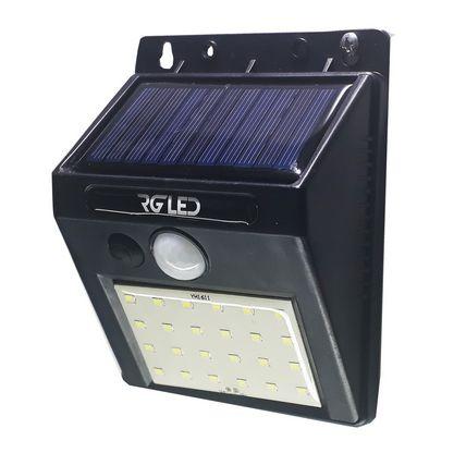 Arandela Led Solar 3W Com Sensor de Presença IP65