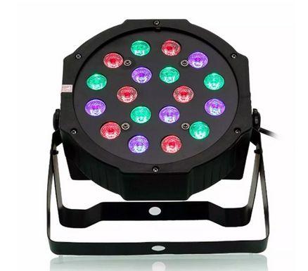 Canhão Refletor Led RGB 54 Leds - DMX - Jogo Luz Iluminação