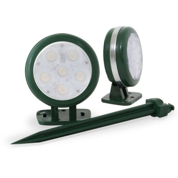 Spot de Embutir no Solo Verde com Opção para Espeto - Branco Frio