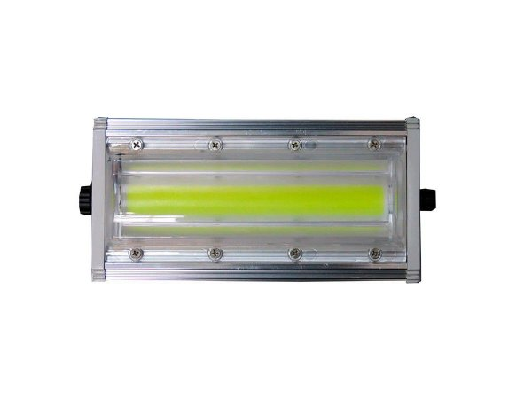 Refletor LED Linear 50W - 100% Blindado - Branco Frio