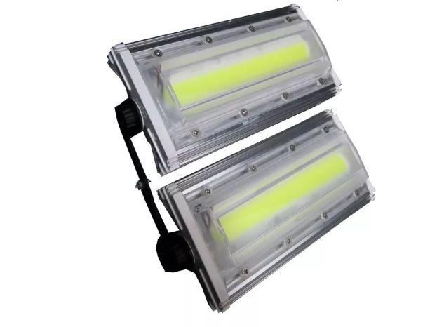 Refletor Modular LED 100W Linear Blindado Branco Frio