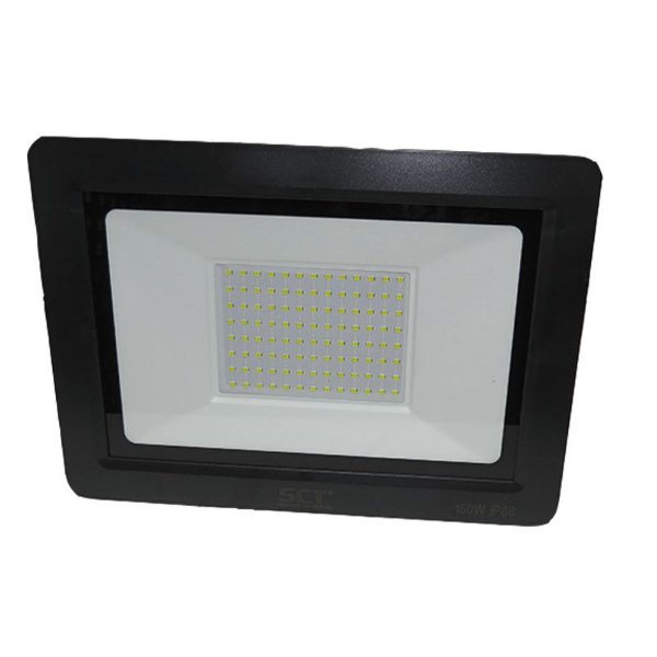 Refletor Super Led Slim 150W Branco Frio Ip66 Alta Potência