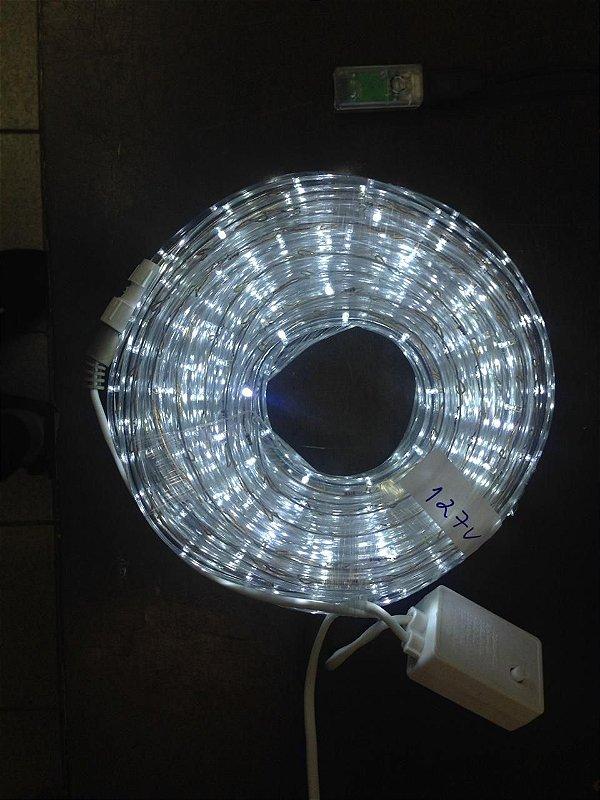 Mangueira de LED - 10 Metros Rolo - Branco Frio - 5 Funções
