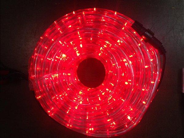 Mangueira de LED - 10 Metros Rolo - Vermelho - 5 Funções