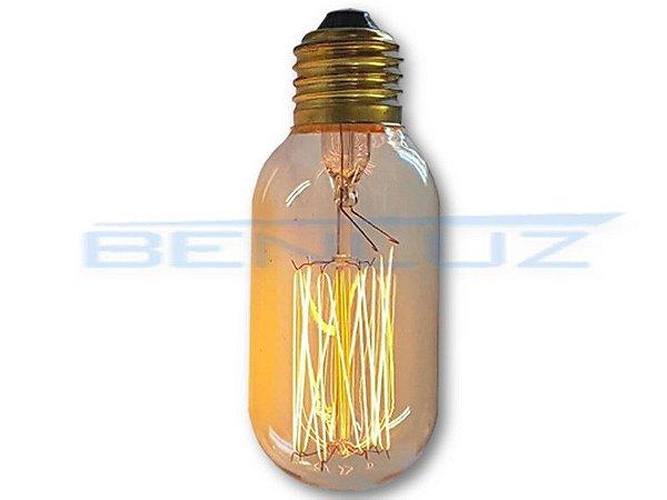 Lâmpada LED 40W T45 Filamento de Carbono 127V