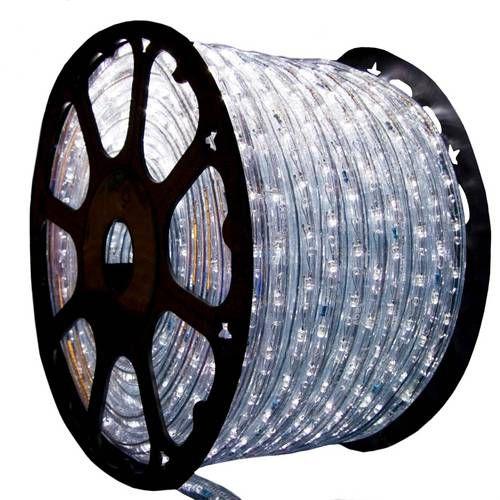 Mangueira de LED Branca Fria 12 MM Rolo com 100 Metros