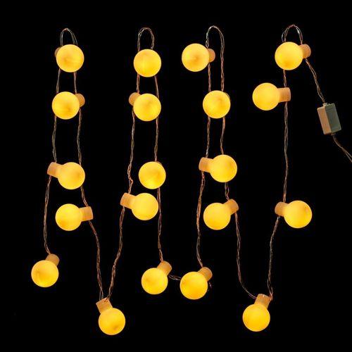 Conjunto Com 20 Bolas de LED Fixo Branco Quente Para decoração