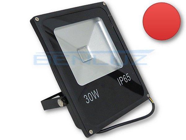 Refletor Holofote De LED 30W - Vermelho A prova d'água