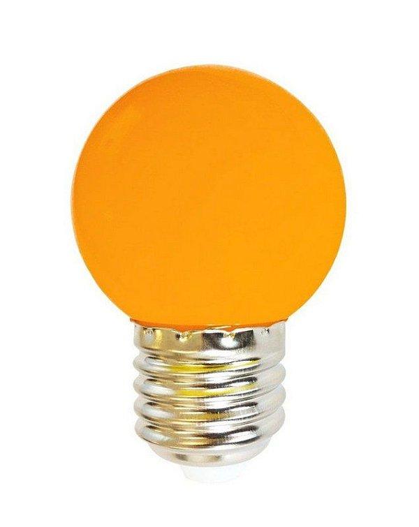 Lâmpada Bulbo 1W LED Bolinha Laranja 220V