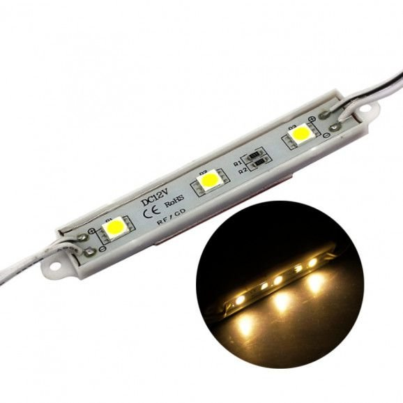 Módulo de LED 5050 3 LEDs Amarelo