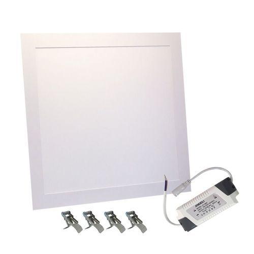 Luminária Painel Plafon LED 32W de Embutir Quadrado 30x30 Branco Frio