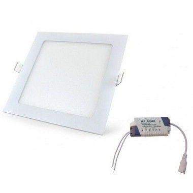 Luminária Painel Plafon LED 15W de Embutir 19X19 Branco Frio
