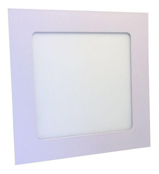 Luminária Painel Plafon LED 9W de Embutir 14x14 Branco Quente
