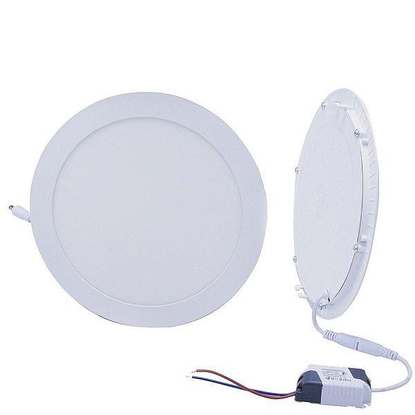 Luminária Painel Plafon LED 32W de Embutir 30x30 Branco Quente