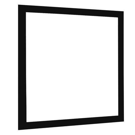 Painel Plafon LED 32W Quadrado de Embutir 40x40 Borda Preta Branco Quente