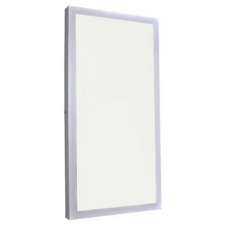 Luminária Painel Plafon LED 36W de Sobrepor 30x60 Branco Quente