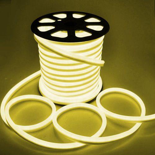 Mangueira Neon De LED Flexível - Rolo com 100 Metros - Amarela