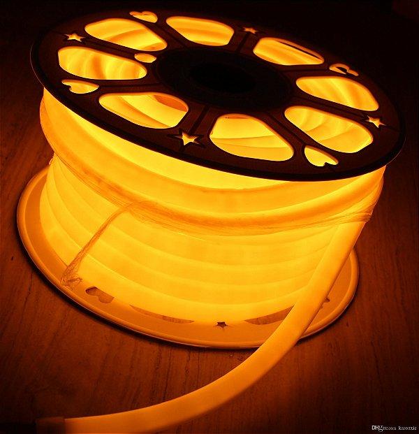 Mangueira Neon De LED Flexível Rolo com 50 Metros Laranja