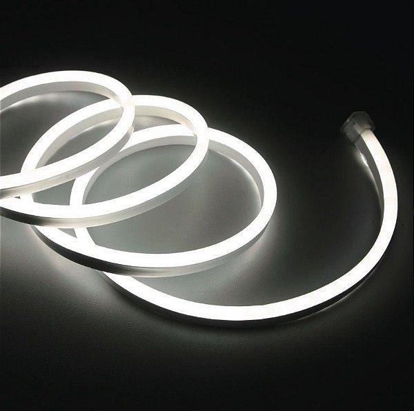 Mangueira Neon De LED Flexível - Por Metro Branca Fria