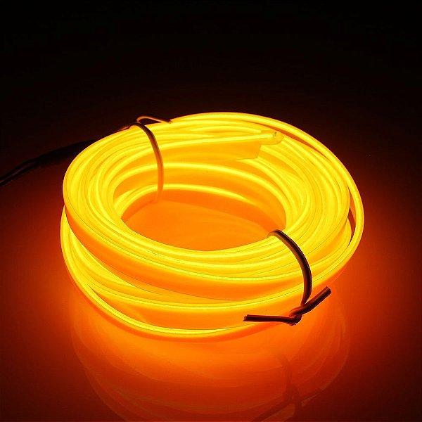 Mangueira Neon De LED Flexível - Por Metro Laranja